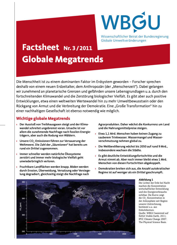 Cover: Globale Megatrends